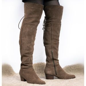 Aldo Over-the-knee Real Suede Olive Boots